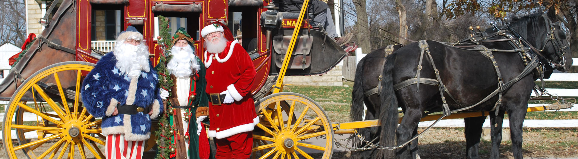 Santa and Stagecoach