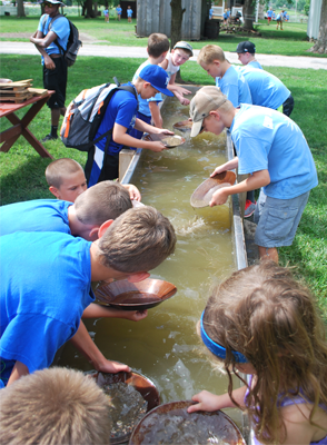 Spring Home School Day Gold Panning